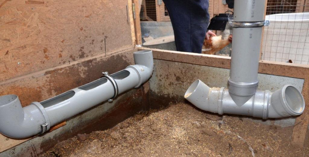 Кормушка и поилка для птицы из сантехнической трубы