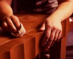 Полировка деревянных изделий