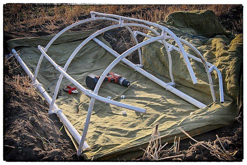 Алюминиевый каркас для скрадка шатра