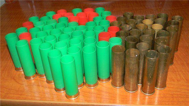 Гильзы 12 калибра пластиковые и металлические