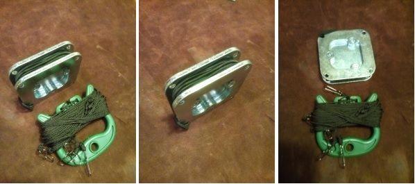 Груз для чучела из ненужной металлической запчасти