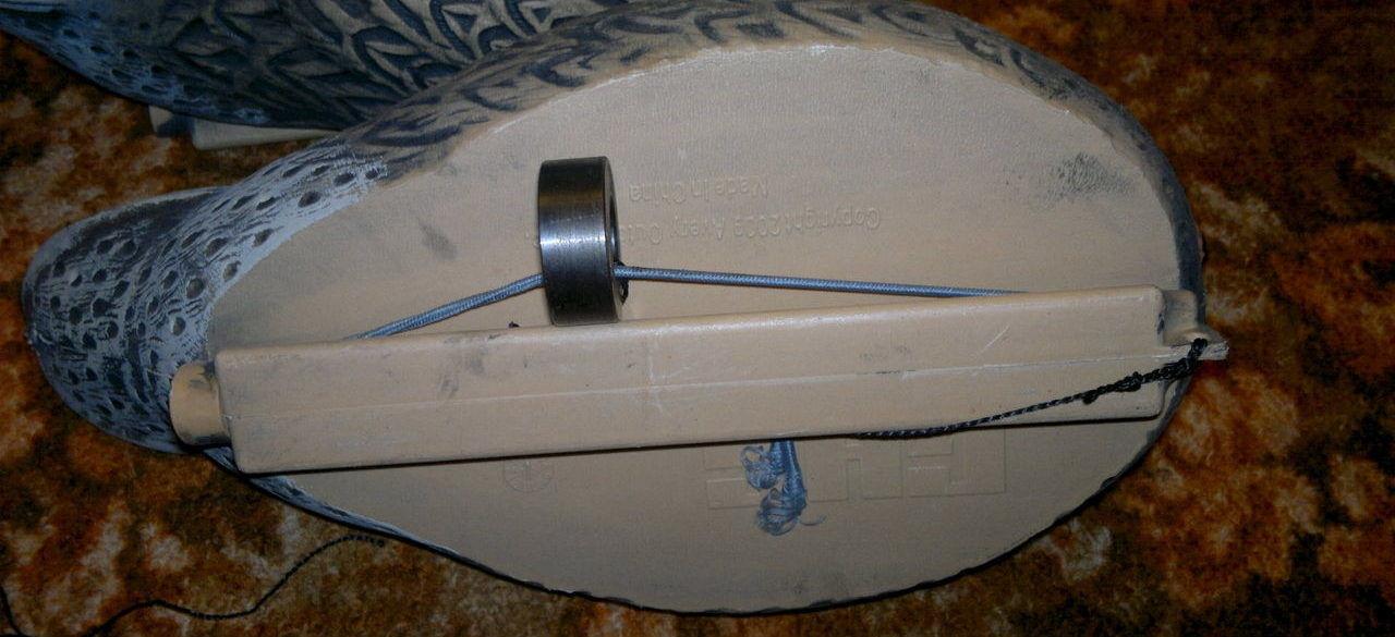Груз и верёвка в собранном положении