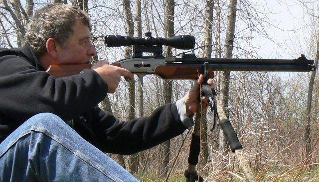 Пневматическое охотничье ружье на триноге