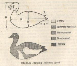 Расцветка чучела утки