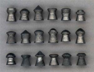 Различные виды свинцовых пулек для пневматики