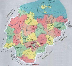 Административная карта республики Саха (Якутия), Россия