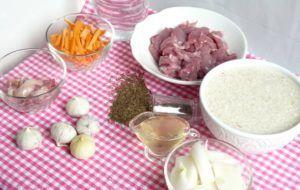 Ингредиенты для приготовления тушенки с рисом