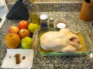 Ингредиенты для приготовления утки в духовке