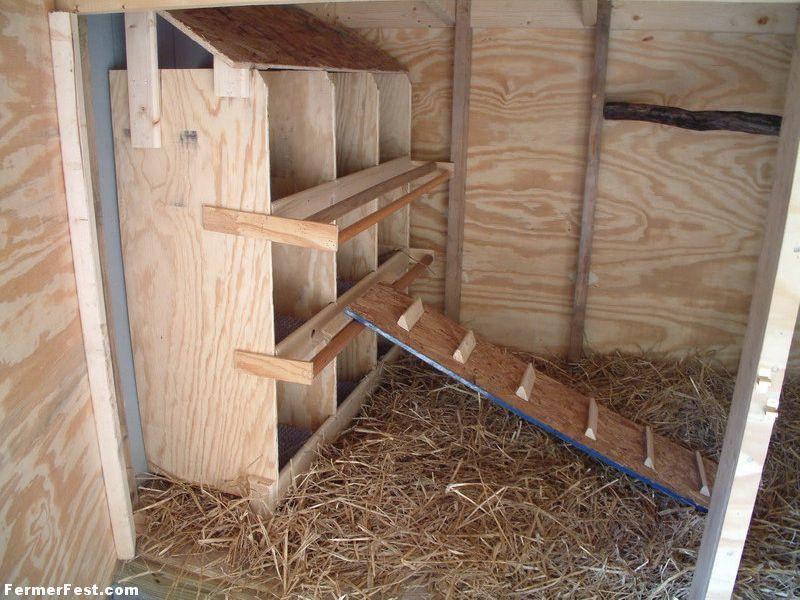 Двухярусные гнезда должны быть обеспечены лестницами