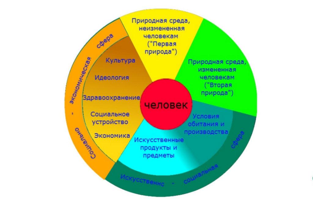 Окружающая человека среда и ее компоненты