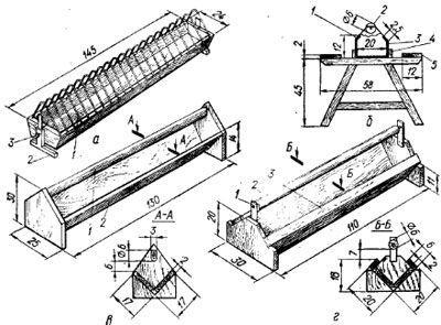 Схема кормушки для уток