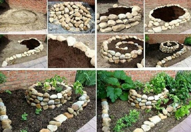 Грядки из камня