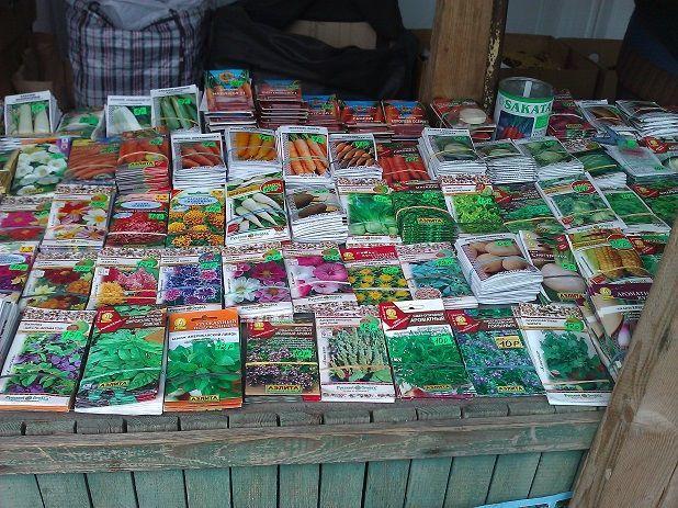 Семена на рынке