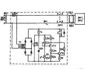 Схема термопривода