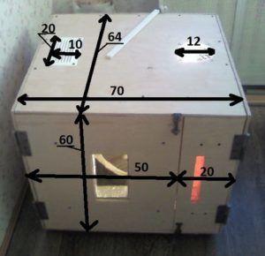 Инкубатор из пенопласта (размеры)