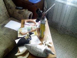 Изготовление чучела утки