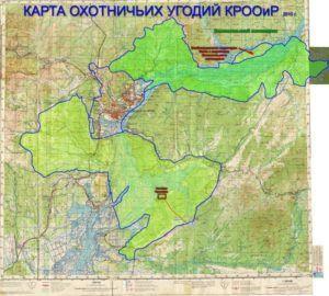 Пример карты угодий охотничьего хозяйства