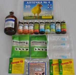Аптечка №4 (для домашней птицы)