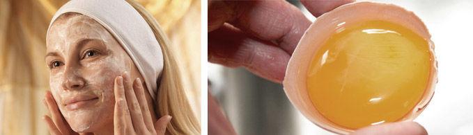 Применение яиц в косметических смесях