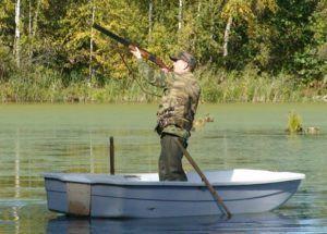 Стрельба с лодки
