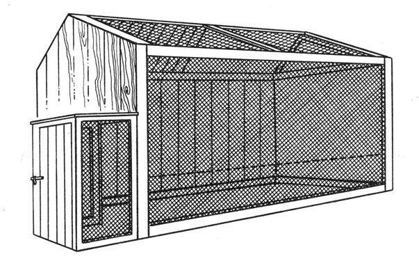 Вольер для индюков с крышей