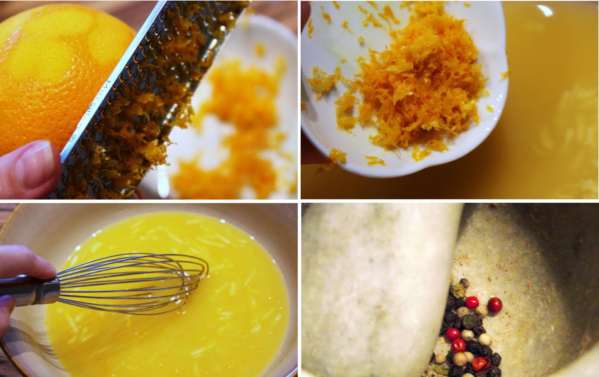 Приготовление апельсинового маринада