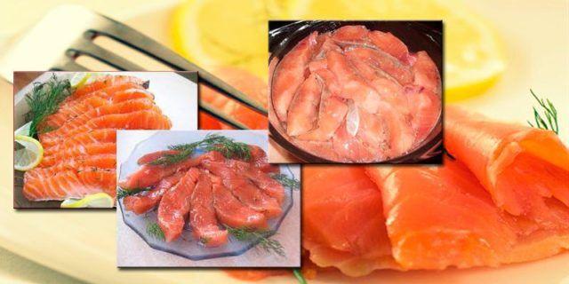 Как можно нарезать красную рыбу